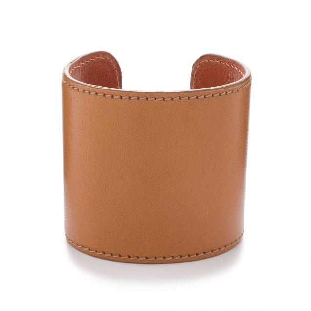 Large leather cuff bracelet