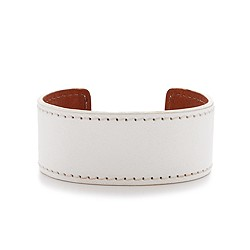 Thin leather cuff bracelet