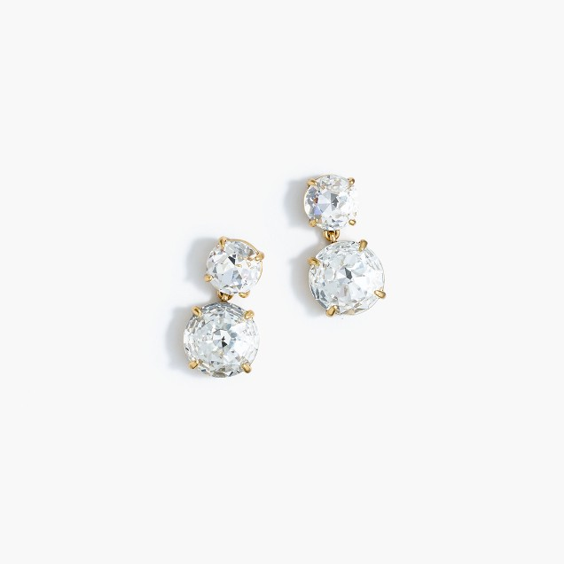 Marine crystal earrings