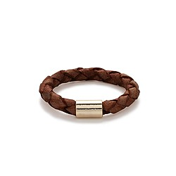 Braided leather ring