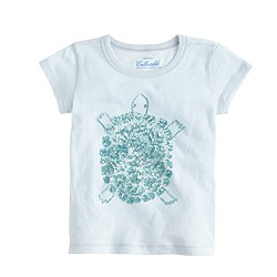 Girls' sequin turtle T-shirt