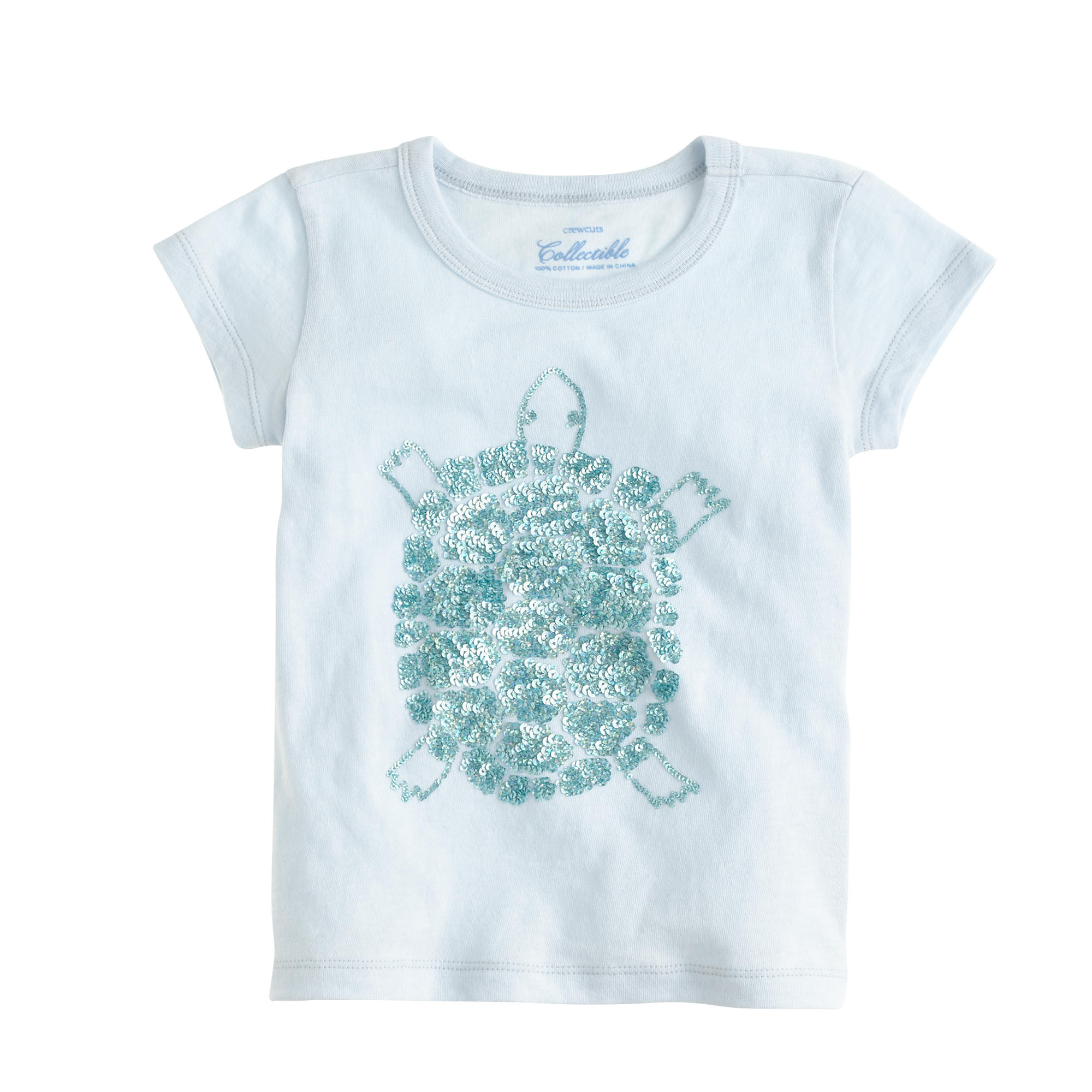 Girls 39 sequin turtle t shirt j crew for Girls sequin t shirt