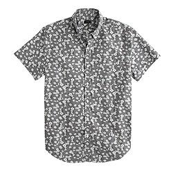 Secret Wash short-sleeve shirt in urban grey floral