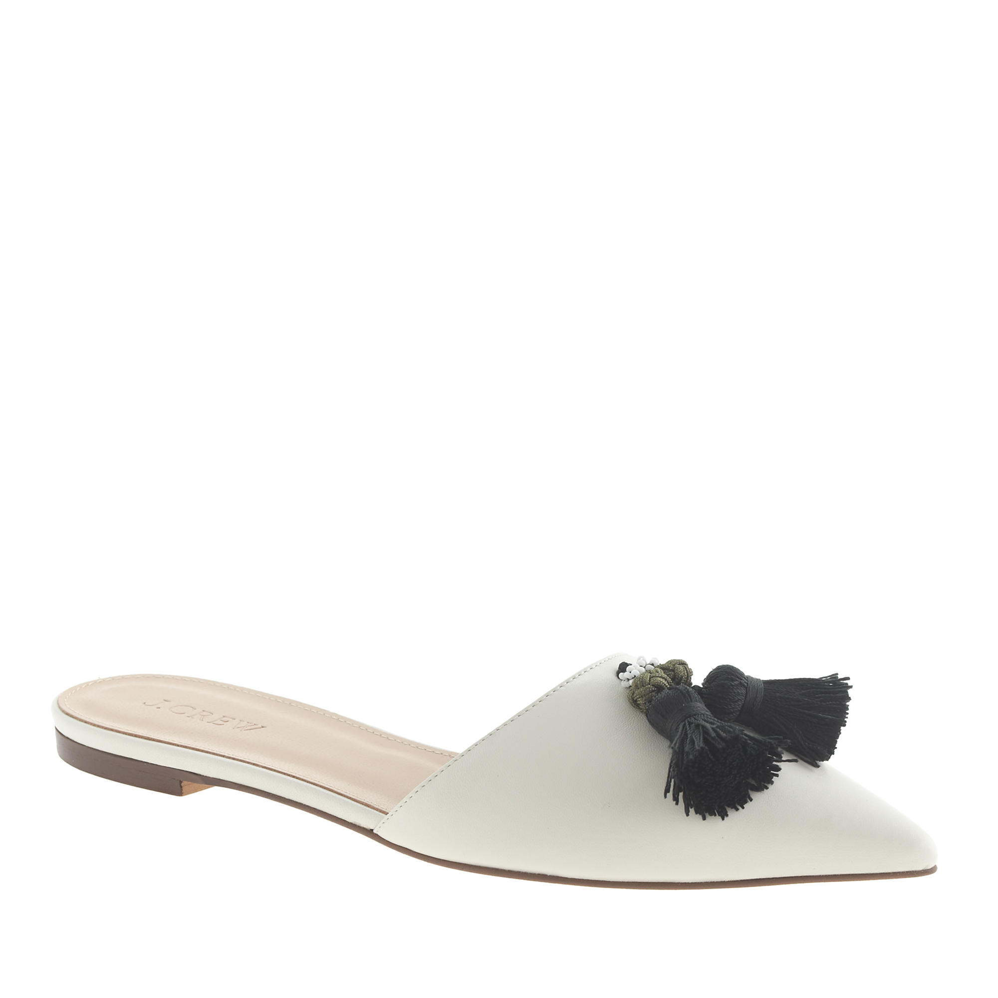 Harper leather tassel mules j crew for J crew bedroom slippers