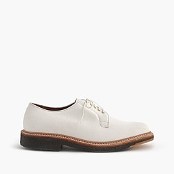 Alden® for J.Crew white suede oxfords