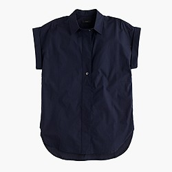 Tall short-sleeve popover shirt