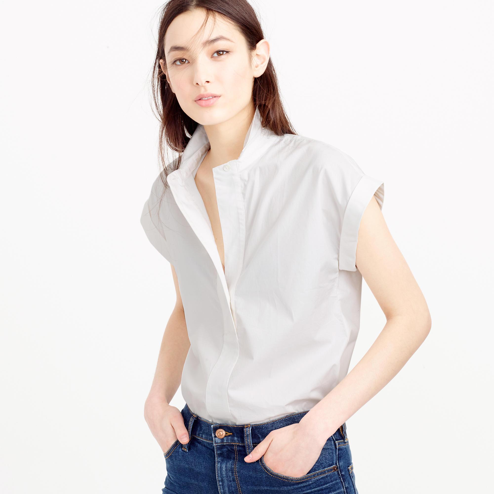 Petite Short-Sleeve Popover Shirt : Women's Shirts | J.Crew