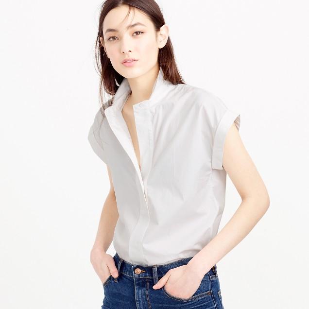 Petite short-sleeve popover shirt