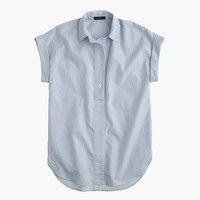 Short-sleeve popover shirt in stripe