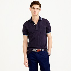 Slim tipped polo shirt