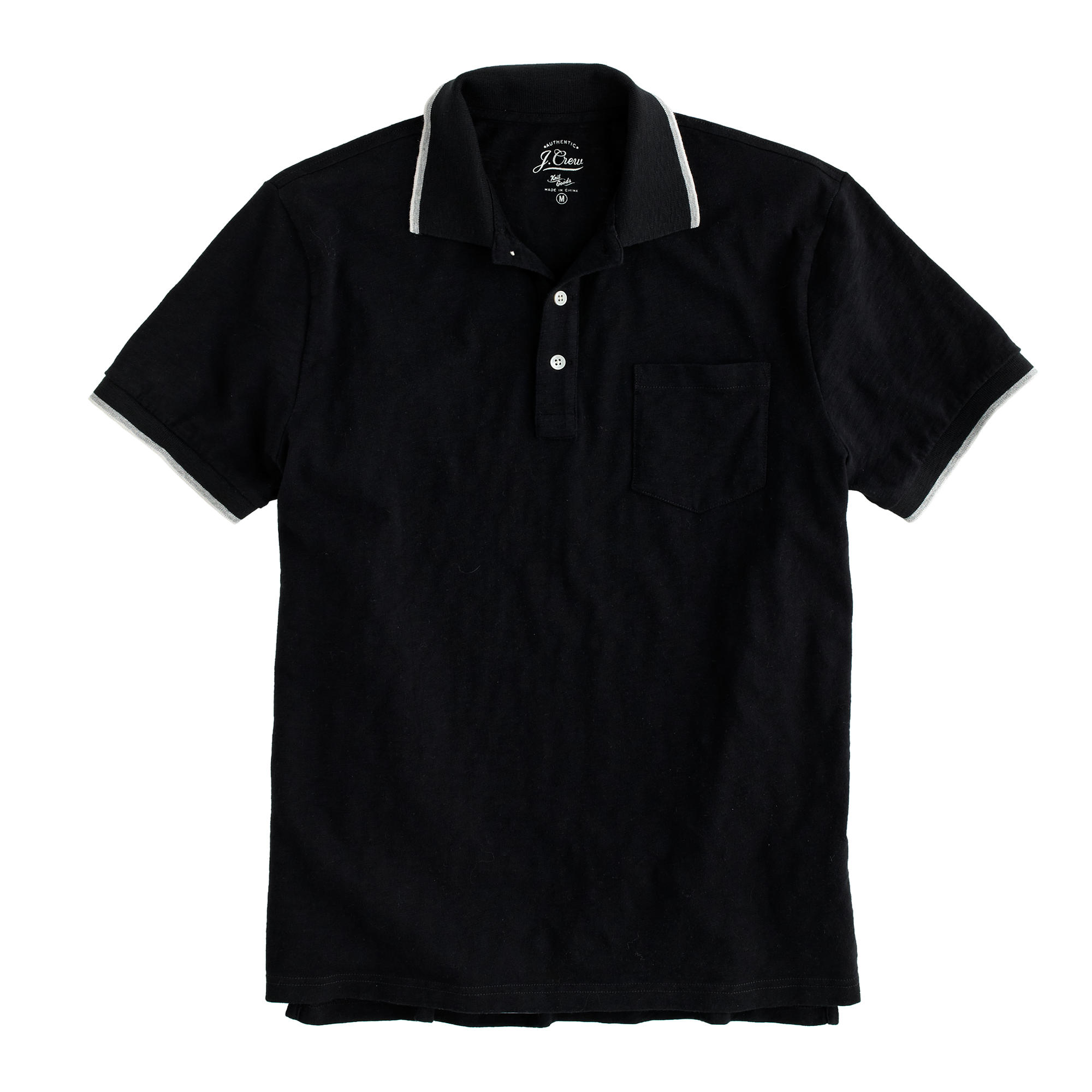 Slim Tipped Polo Shirt Men Polos J Crew