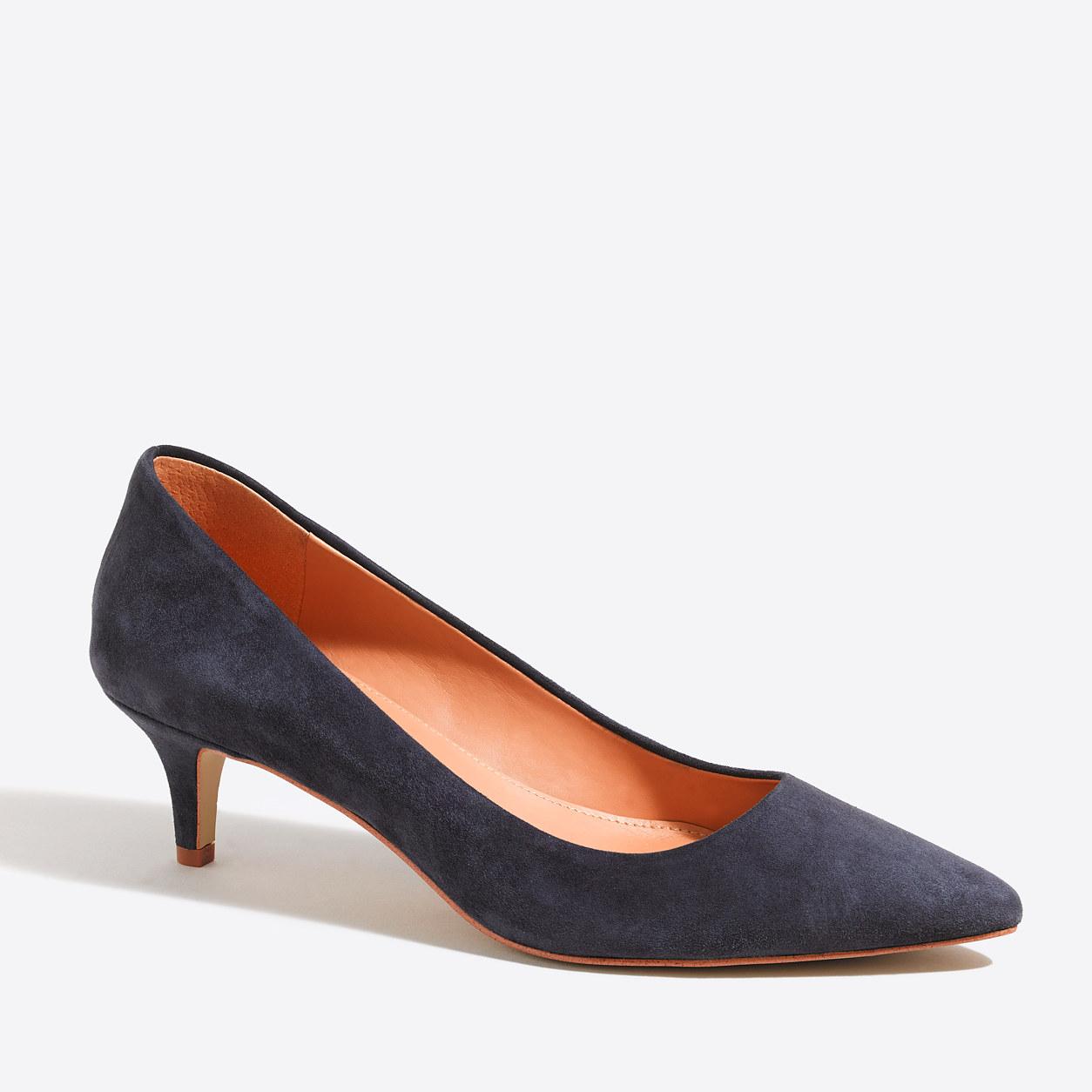 Esme metallic kitten heels : Heels   J.Crew Factory
