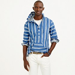 Baja shirt in shibori stripe