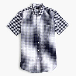 Ludlow short-sleeve shirt in classic navy gingham
