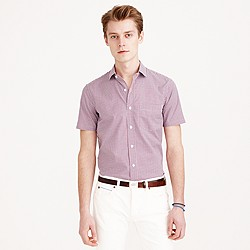 Ludlow short-sleeve shirt in red tattersall