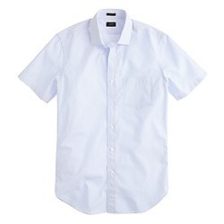 Ludlow short-sleeve shirt in pale blue stripe