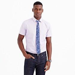Ludlow short-sleeve shirt in violet stripe