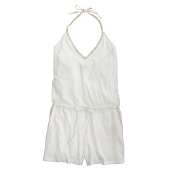 Cotton gauze beach romper