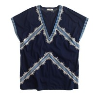 Embroidered tunic T-shirt