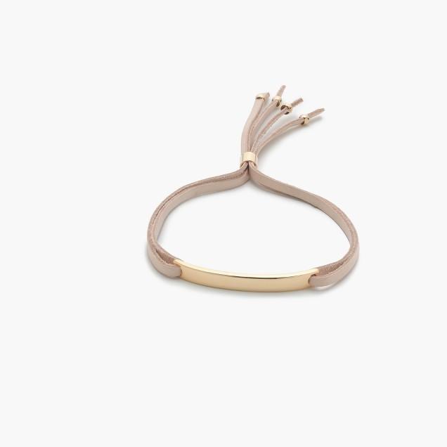 Leather plate bracelet