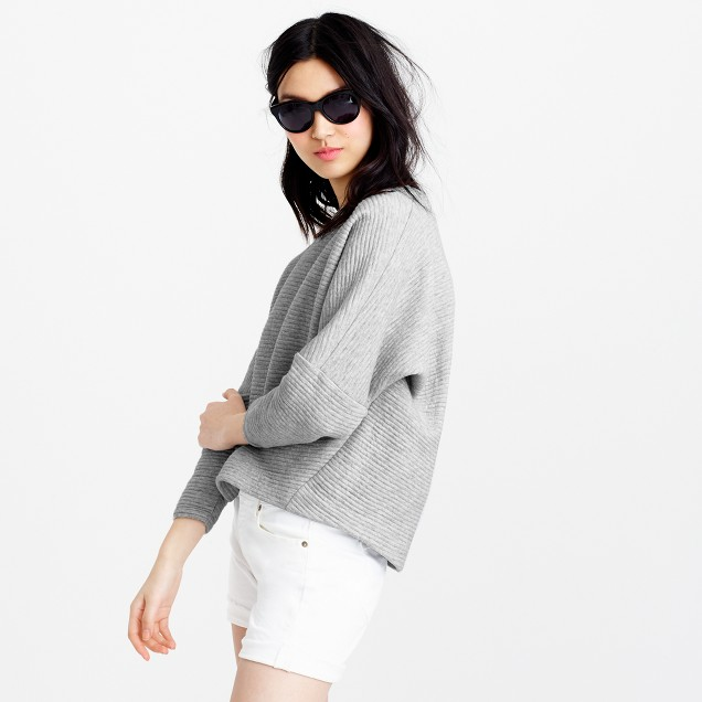 Collection ribbed sweatshirt
