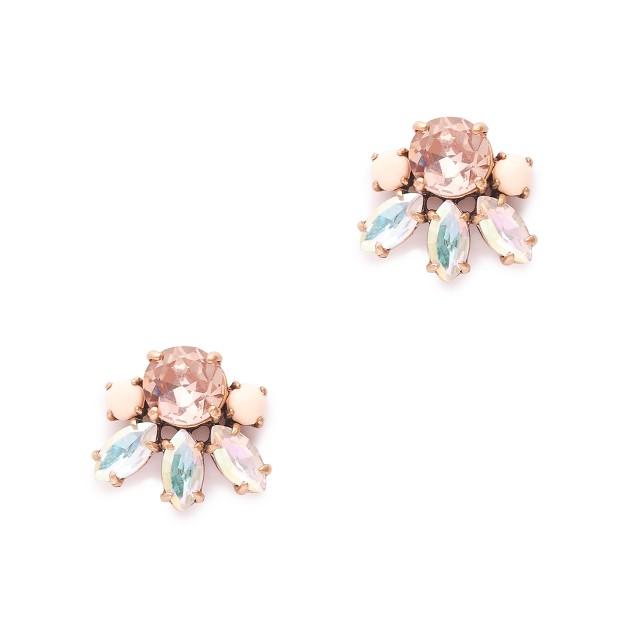 Crystal bud earrings