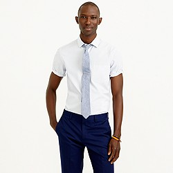 Thomas Mason® for J.Crew short-sleeve Ludlow shirt in dark peri stripe