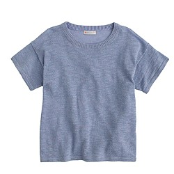 Girls' sparkly short-sleeve sweater