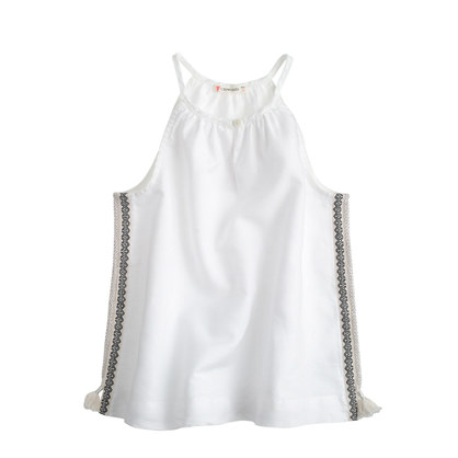 Girls' fringe ribbon tank top