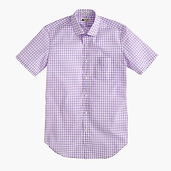 Thomas Mason® for J.Crew short-sleeve Ludlow shirt in violet gingham