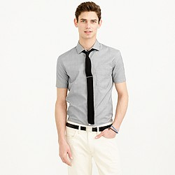 Thomas Mason® for J.Crew short-sleeve Ludlow shirt in glen plaid