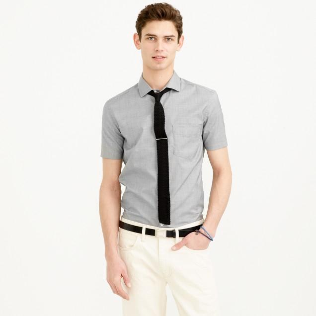 Thomas mason for j crew short sleeve ludlow shirt in glen for Thomas mason dress shirts