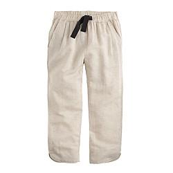 Girls' linen beach pant