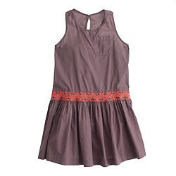 Girls' embroidered band sundress