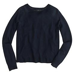 Petite linen swing sweater