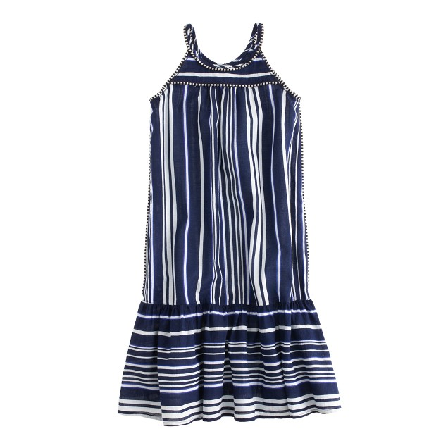 Girls' sundress in switched-up stripe