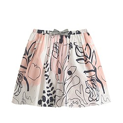 Girls' pull-on skirt in squiggle splatter