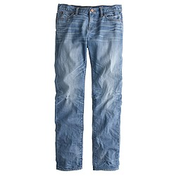 Slim broken-in boyfriend jean in light mackie wash