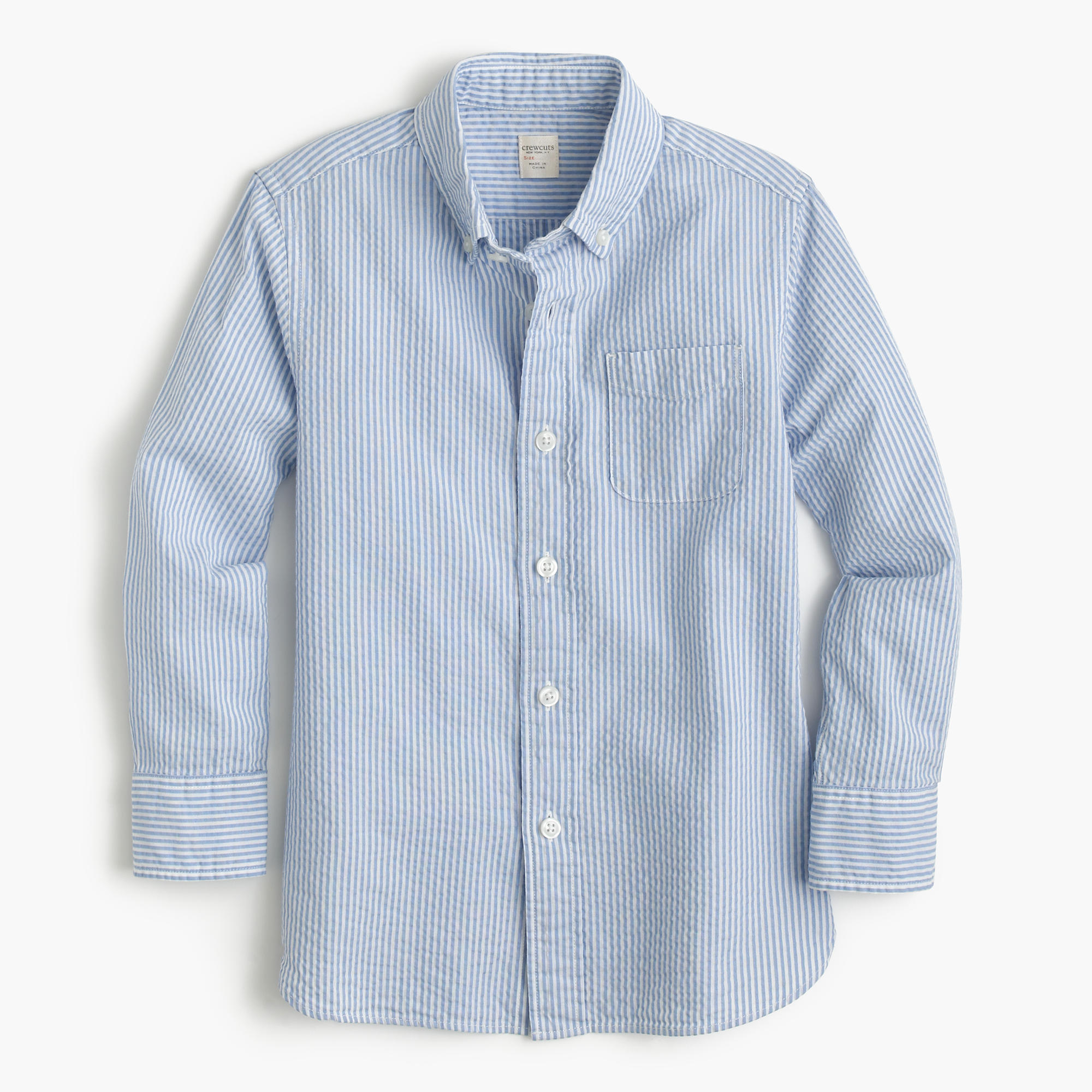 Nothing beats the breezy comfort of our women's seersucker shirt-versatile and perfect for warm-weather days.