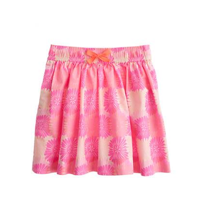 Girls' pull-on skirt in splatter floral