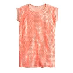 Girls' sequin T-shirt dress