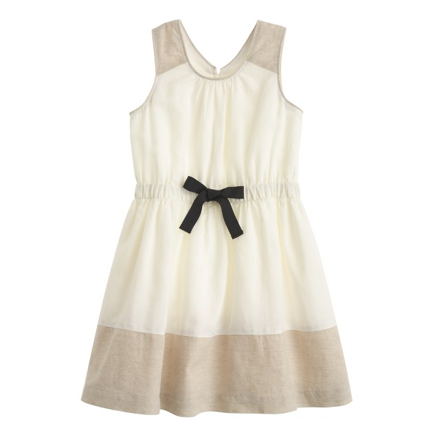 Girls' colorblock party dress
