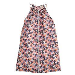 Girls' summer dress in stamp heart