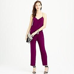 Petite silk strappy jumpsuit