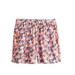 Girls' skirty short in stamp hearts