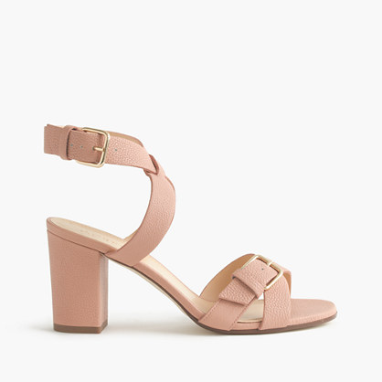 a1e7434600f9 Buckled mid-heel sandals