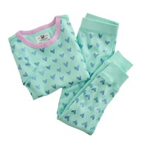Girls' pajama set in scribble hearts