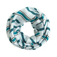 Striped silk infinity scarf