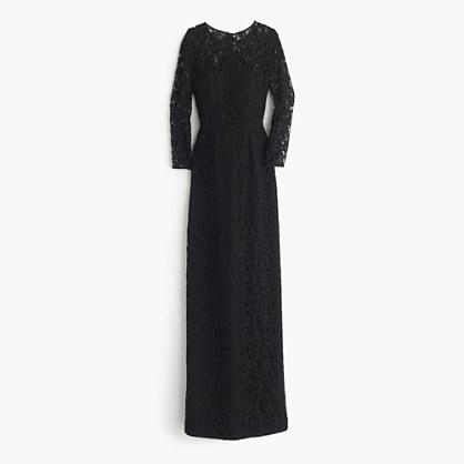Selina long dress in Leavers lace