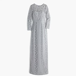 Selina long dress in Leavers lace
